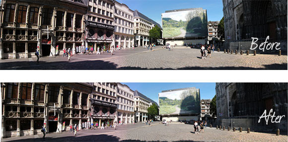 Adaptive Wide Angle Filter Before/After