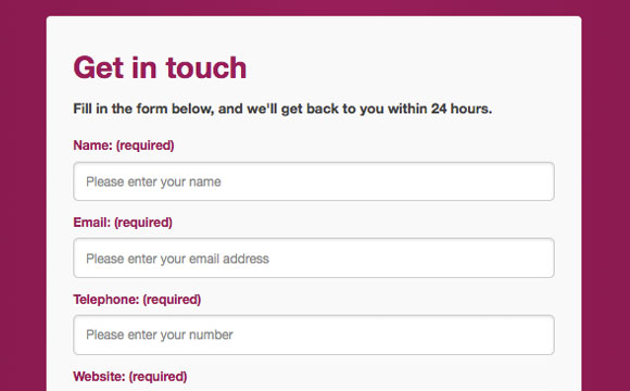 An Html5 Responsive-Ready Contact Form With Javascript Detection
