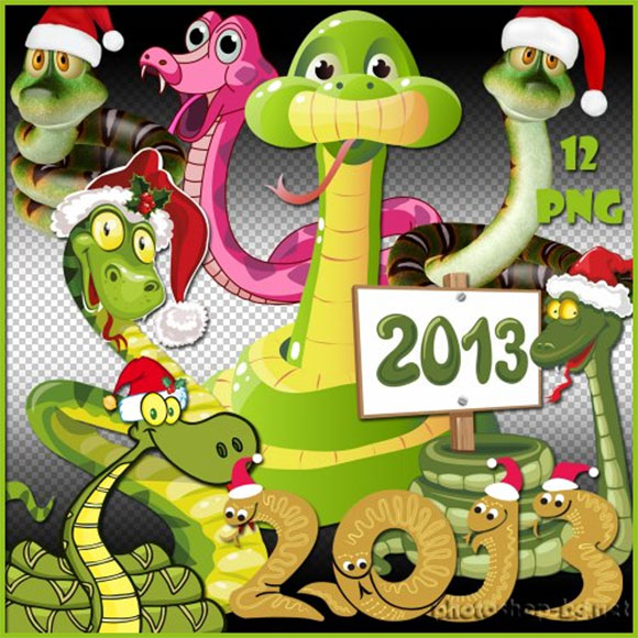 Snake Year Clipart