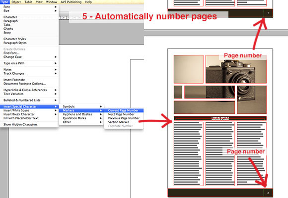 Automatically Number Pages