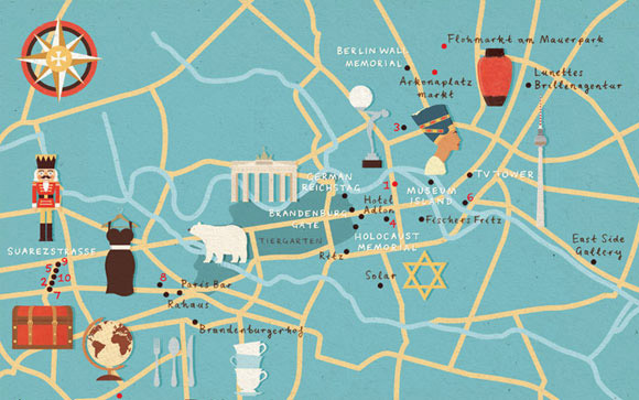 beautiful map illustration design inspiration