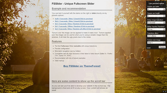 60 Websites Using Full Screen Photographic Backgrounds