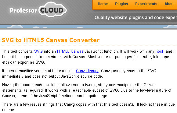 SVG to HTML5 Canvas Converter