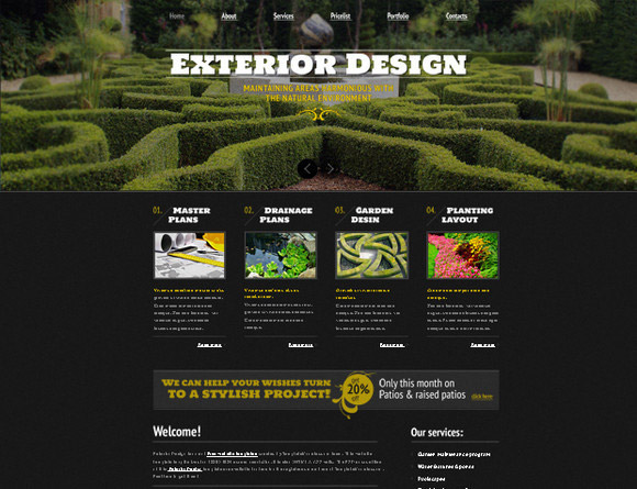 Free Template Exterior Design Project