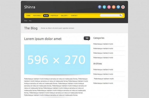 Shinra HTML Template