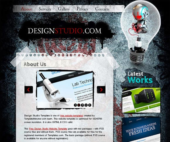 Html5 Template for Web Design Studio