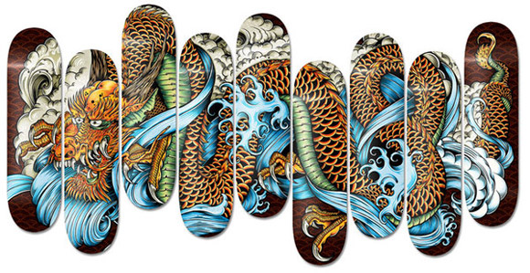 Amazing Examples of Skateboard Deck Design