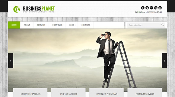 Business Planet Bootstrap Web Template