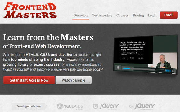 FrontEnd Masters Workshop Series – Frontend Development Learning at its Best