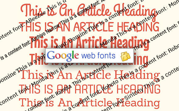 10 Great Font Combinations from Google Web Fonts