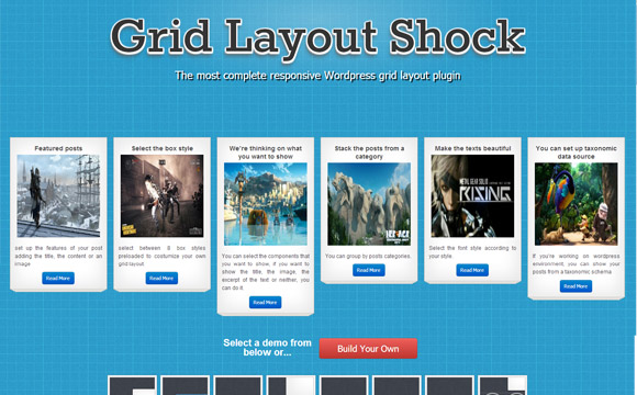 WordPress Grid Layout Plugin Giveaway: 10 Grid Layout Shock Developer Licenses