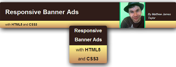 Responsive Banner Ads with HTML5 and CSS3