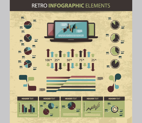 Business Scheme and Infographics Elements Vector