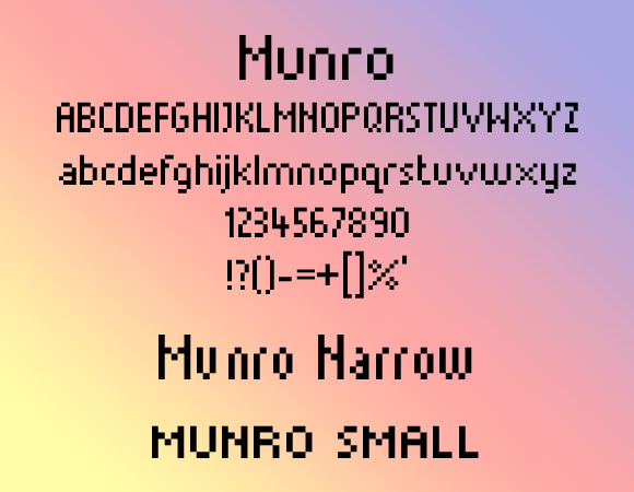 25 Free Pixel-Perfect Fonts for 8-Bit Designs