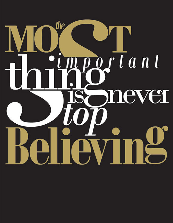 Typography: Believing