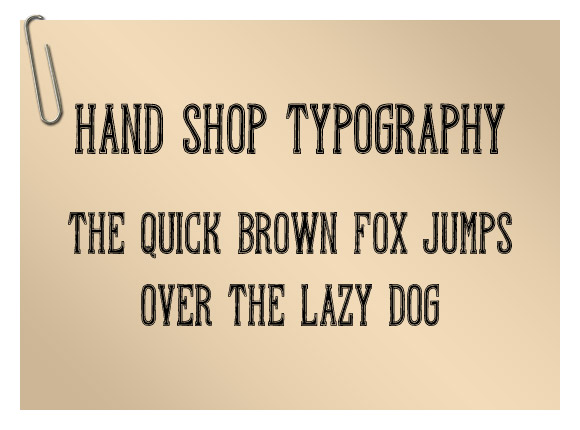 Hand Shop Typography A20