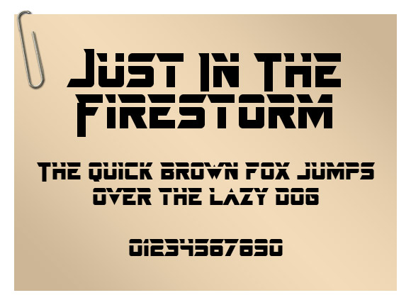 Just In The Firestorm
