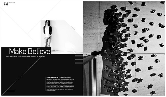 Inspirational and attractive magazine page layouts for Modern newsletter design inspiration