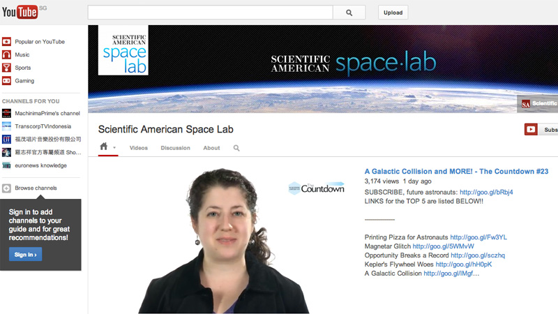 YouTube Space Lab