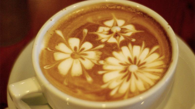 Latte Art - Flowers