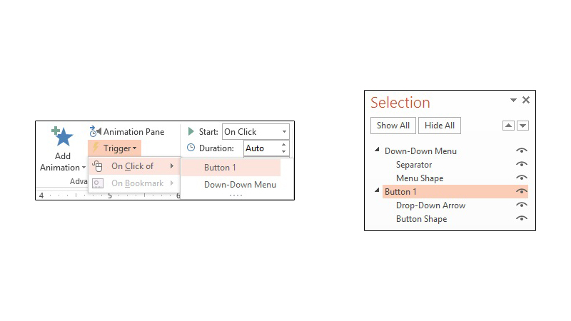 Animation Trigger and Selection