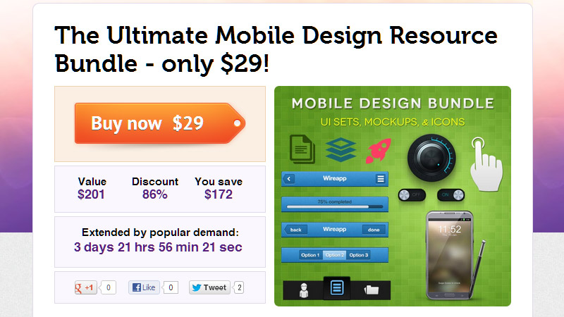 The Ultimate Mobile Design Resource Bundle