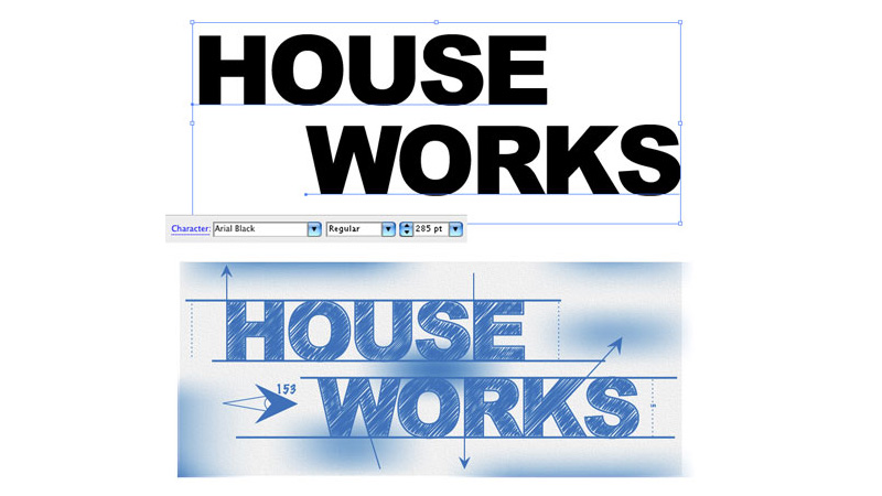 Blueprint-Style Text in Adobe Illustrator
