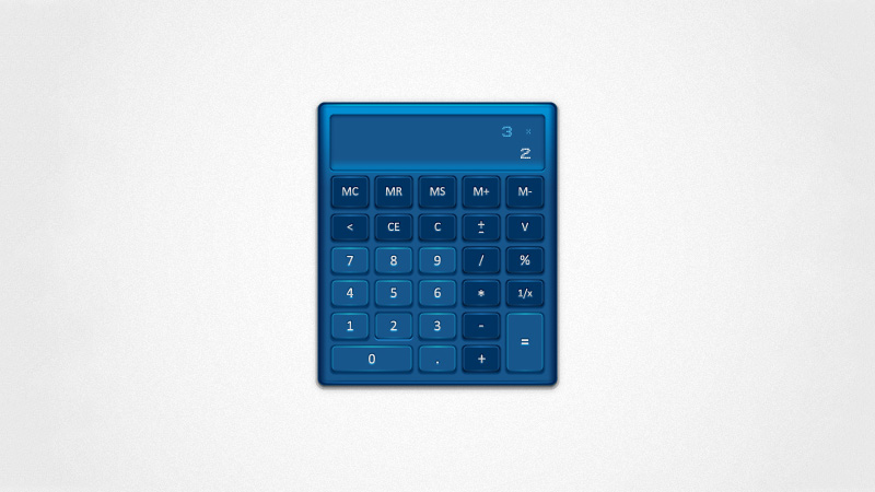 Create a Detailed Calculator Interface with the Appearance Panel