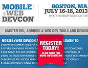 Mobile+Web DevCon Comes to Boston this July 16th-18th
