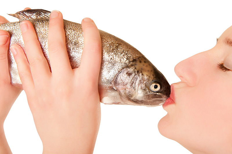 Kissing a Fish