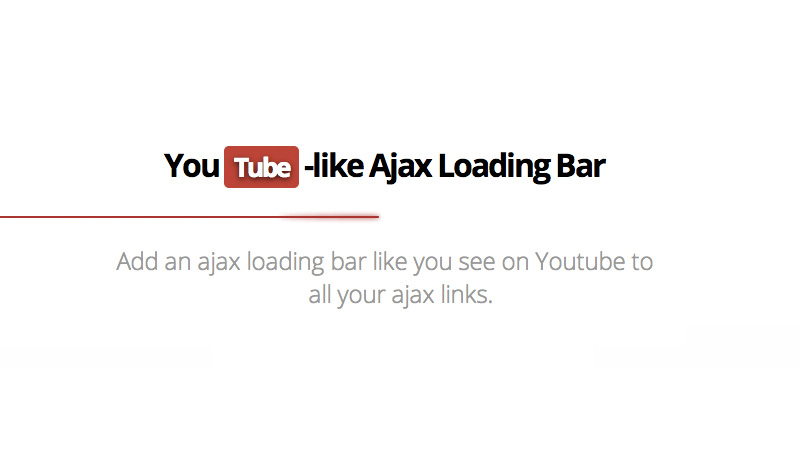 YouTube-Like Loading Bar