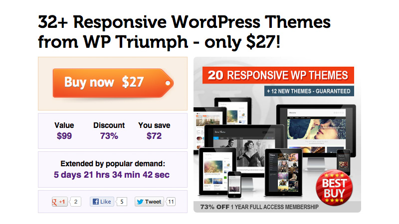 Responsive WordPress Themes from WP Triumph