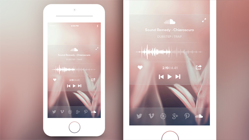 Custom Soundcloud Modal iOS7