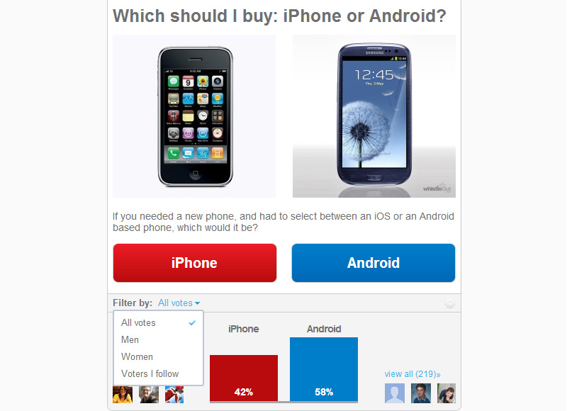 iPhone Android Example
