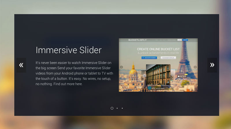 Creating an Immersive Slider Experience with jQuery Immersive Slider