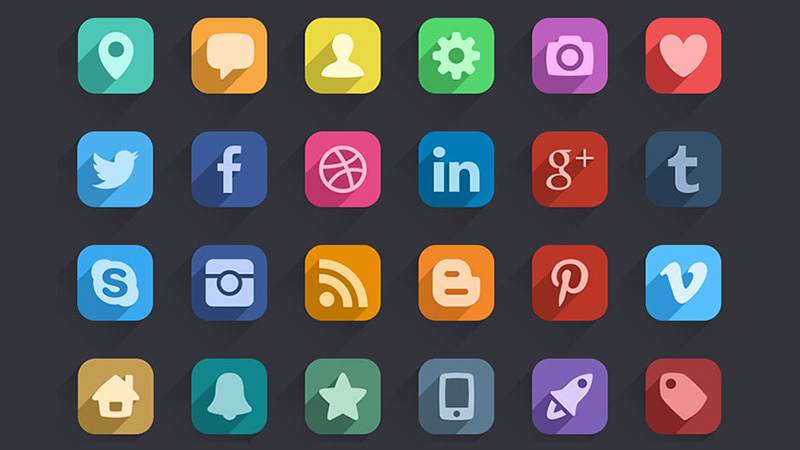 Long Shadow Icons by EpicCoders