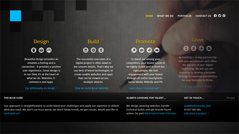 Bold and Striking Website Design Featuring Dark Photo Backgrounds
