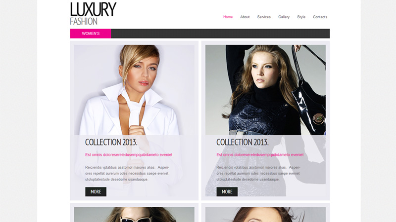 Luxury Fashion Template