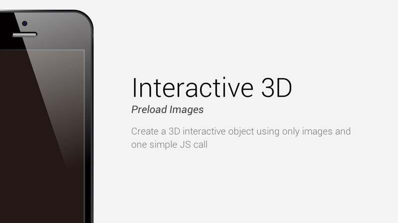 Create an Awesome 3D interactive object using only images and jQuery