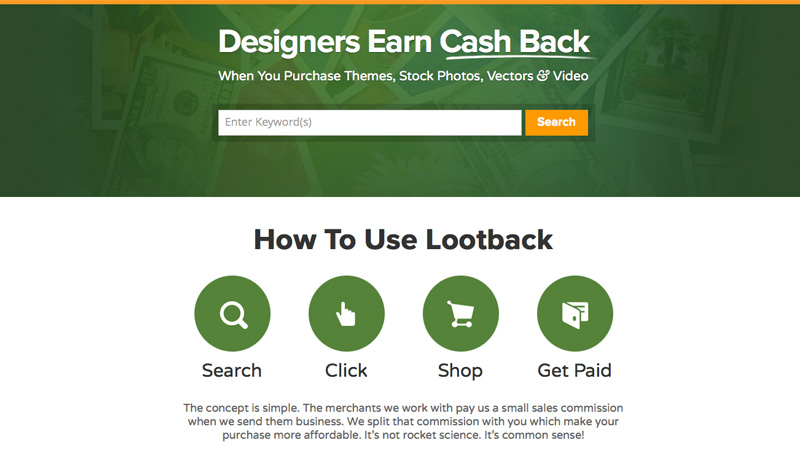 Lootback: Get Cash Back on Stock Files