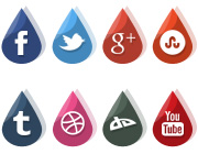 Freebie: Social Drops Icons