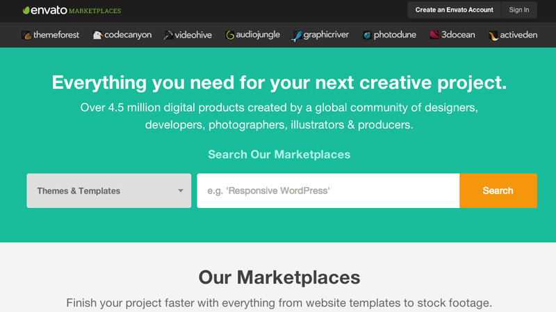 Envato Marketplaces