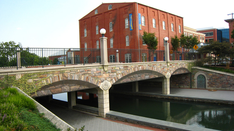 Trompe l'oeil Bridge Mural over Carroll Creek, Frederick, MD