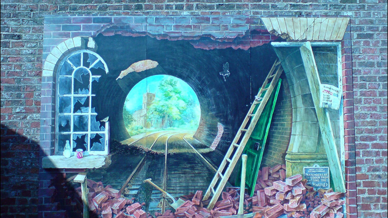 Trompe l'oeil at Knaresborough Railway Station