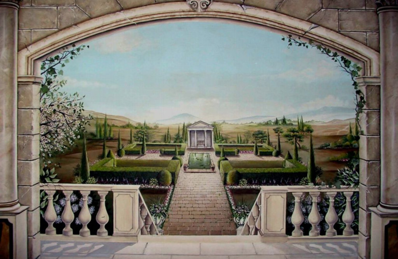 Tuscany Trompe L'oeil – Close Up