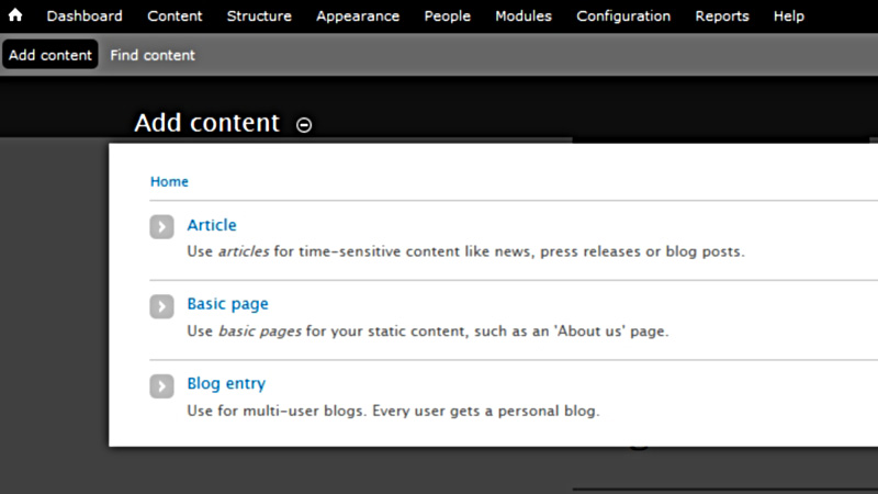 Scratch add content Basic Page link