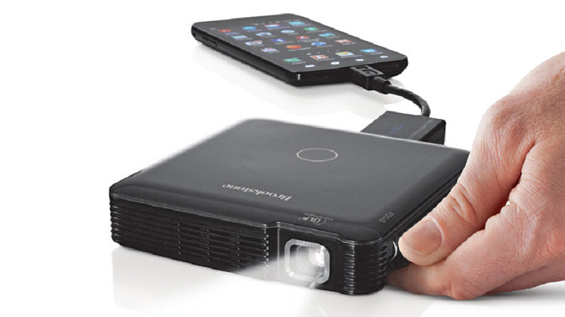 Awesome futuristic gifts for your smart home for Small projector for mobile
