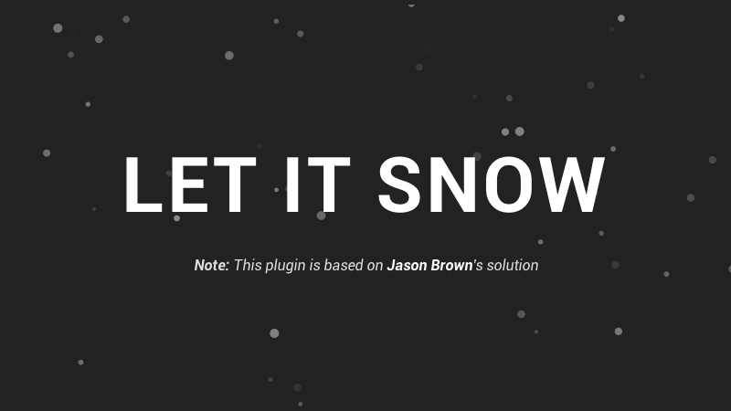Create and Control Festive Snow on Your Website using HTML5 Canvas