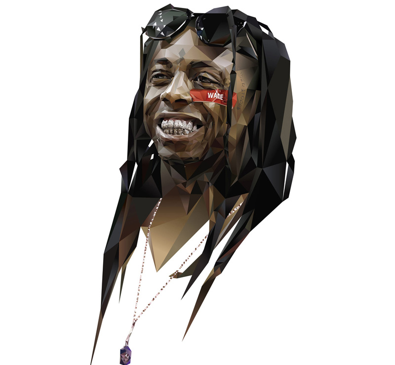 Portrait of Lil Wayne