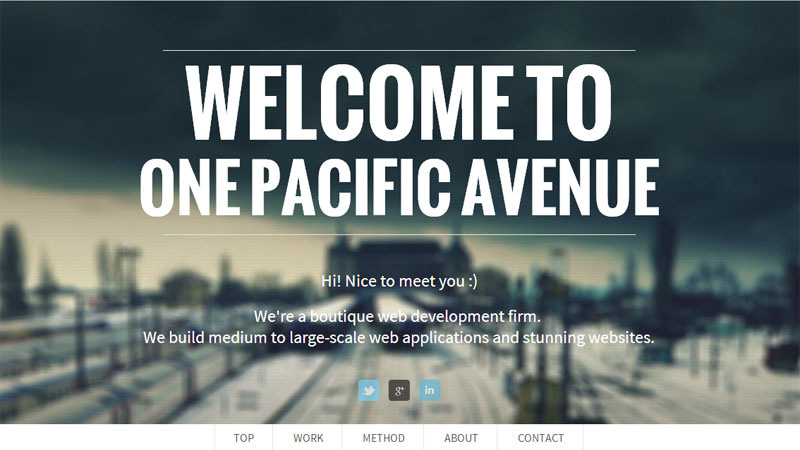 Web Application Development Services by One Pacific Avenue